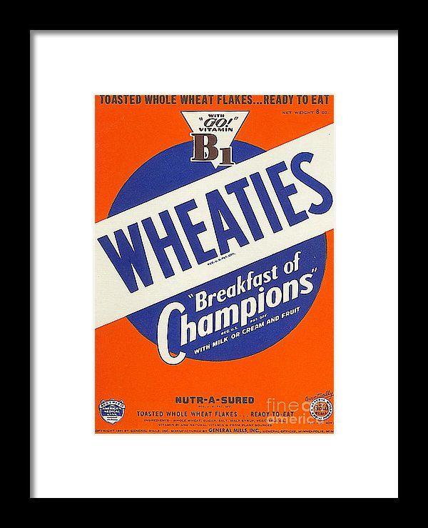 Breakfast Cereal Wheaties Breakfast Of Champions Pop Art
