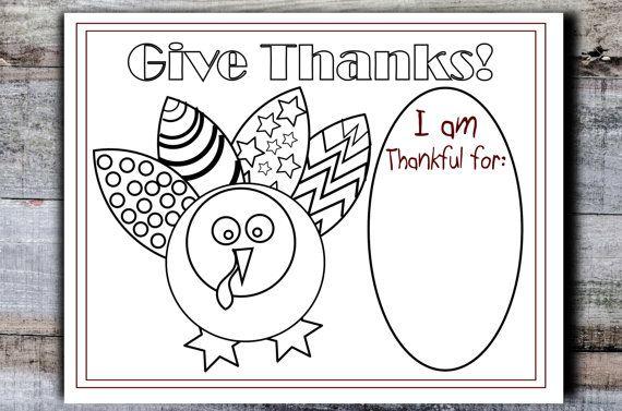 Printable Thanksgiving Placemat Kids Table Turkey Coloring Sheet Diy Table Decor Children 39 S Ho Thanksgiving Placemats Coloring Placemats Placemats Kids