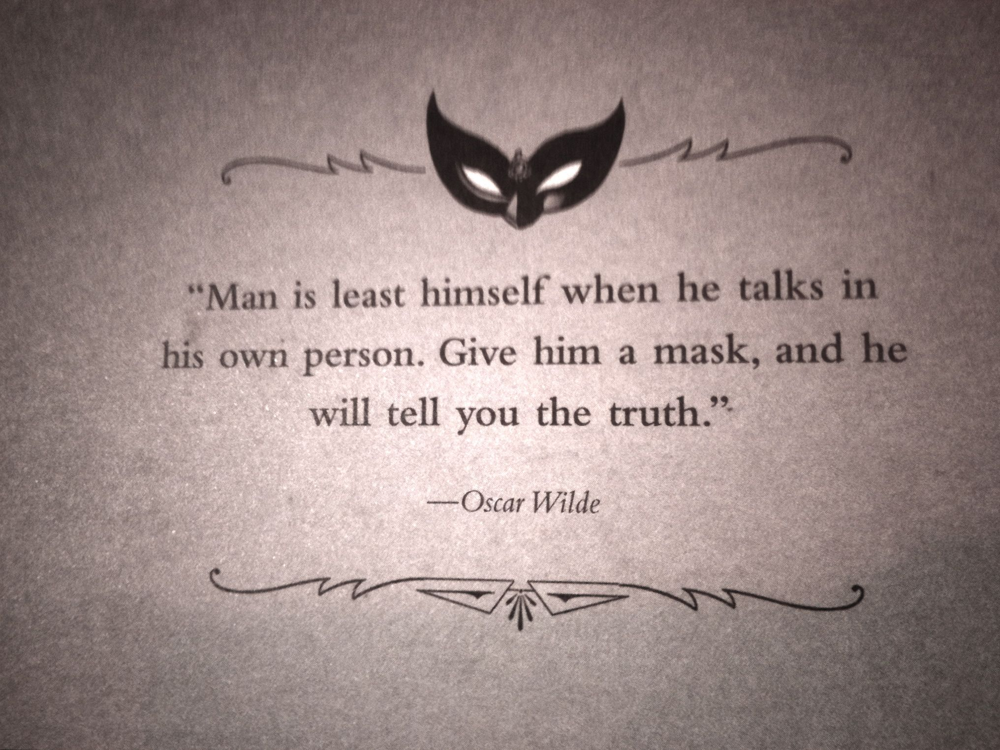 Revealing your true self... | Oscar wilde quotes ...