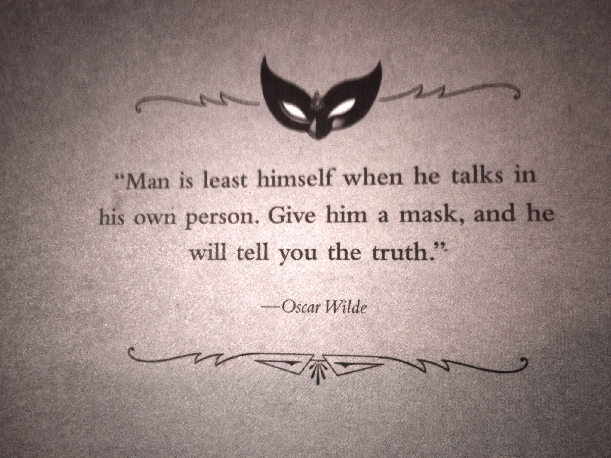 Revealing Your True Self Oscar Wilde Quotes Inspirational