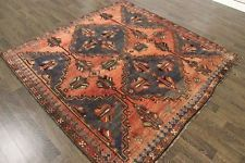 TRADITIONAL ANTIQUE PERSIAN Wool  6.5 X 6.1 HANDMADE RUGS ORIENTAL RUG CARPET