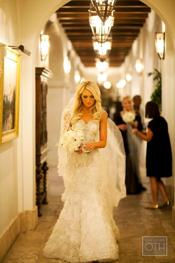 breathtaking dress by Pnina Tornai; photo by christian oth