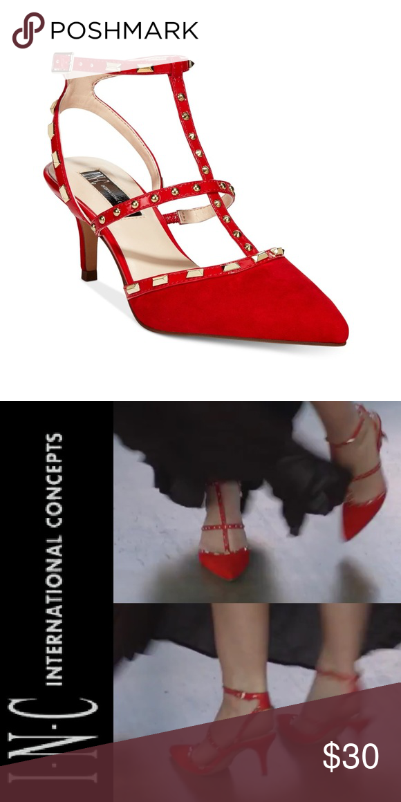 d59bf6bf224 I.N.C. Carma Pointed Toe Studded Kitten Heel Pumps Worn just a few times.  No flaws