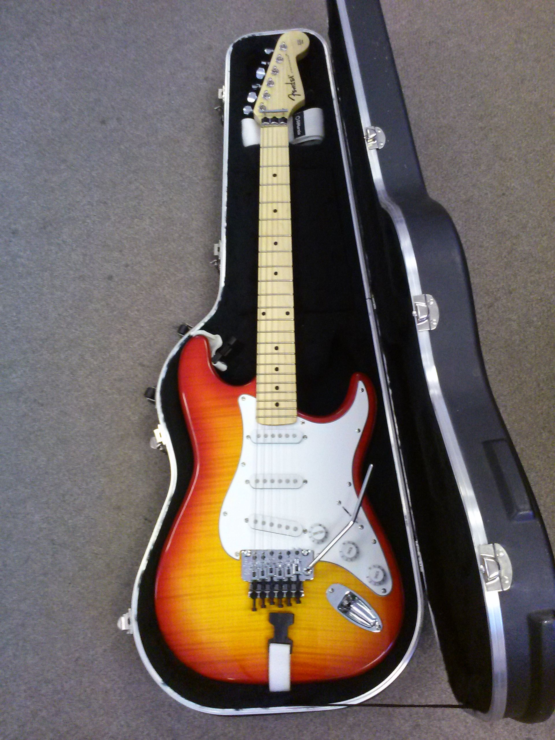 Chinese Fender Stratocaster With Floyd Rose Tremolo Beautiful Flame
