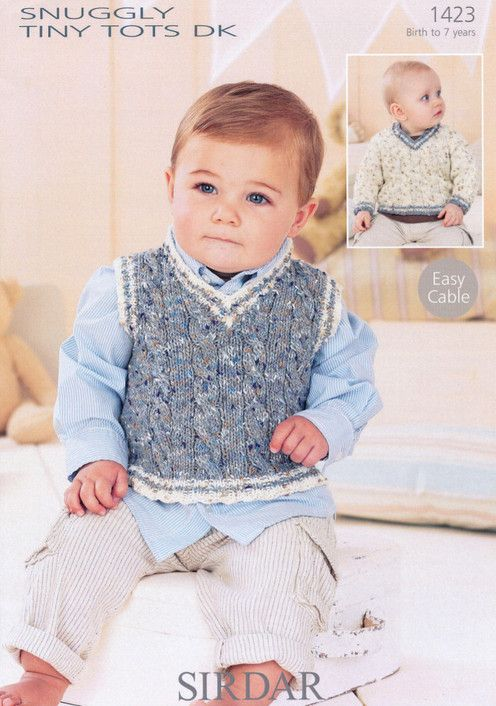 Sirdar--Baby Boy\'s Sweater and Tank Top | Knitting & crochet | Pinterest