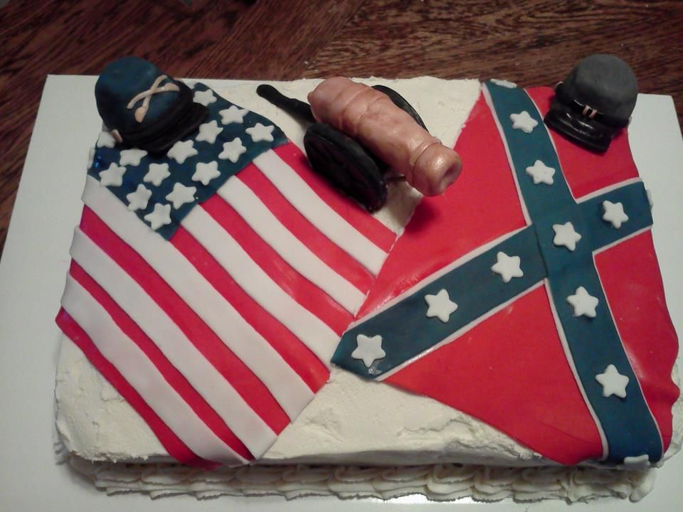 Civil War Themed Birthday Cake With Images Themed Birthday