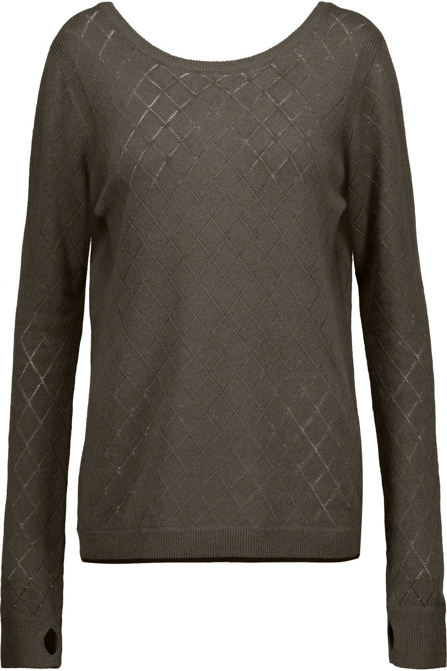 L'AGENCE Agustina Open Knit-Trimmed Stretch-Knit Sweater. #lagence #cloth #sweater