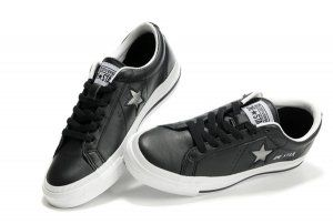 Converse Womens Black Leather : Converse Trainers ???Shoes
