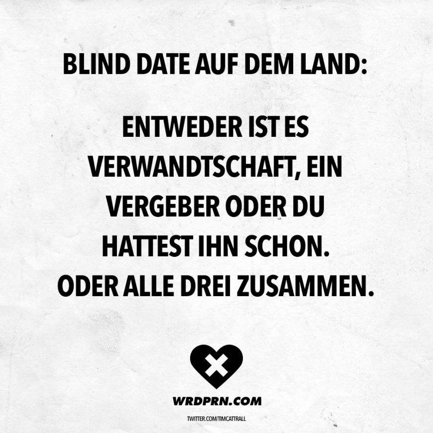 Blind Date Auf Dem Land Entweder Ist Es Verwandtschaft Ein