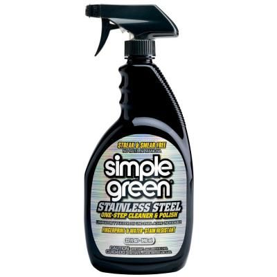 Simple Green 32 Oz Stainless Steel Cleaner 3500000118300 The Home Depot Stainless Steel Cleaner Best Stainless Steel Cleaner Simple Green