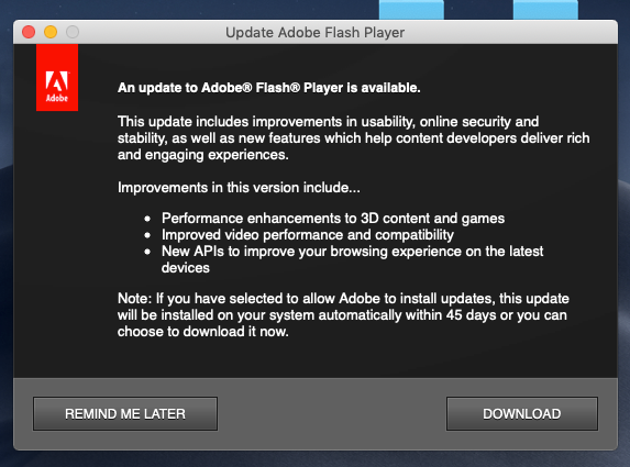 How To Disable Update Adobe Flash Player Notifications Macreports Flash How To Uninstall Adobe