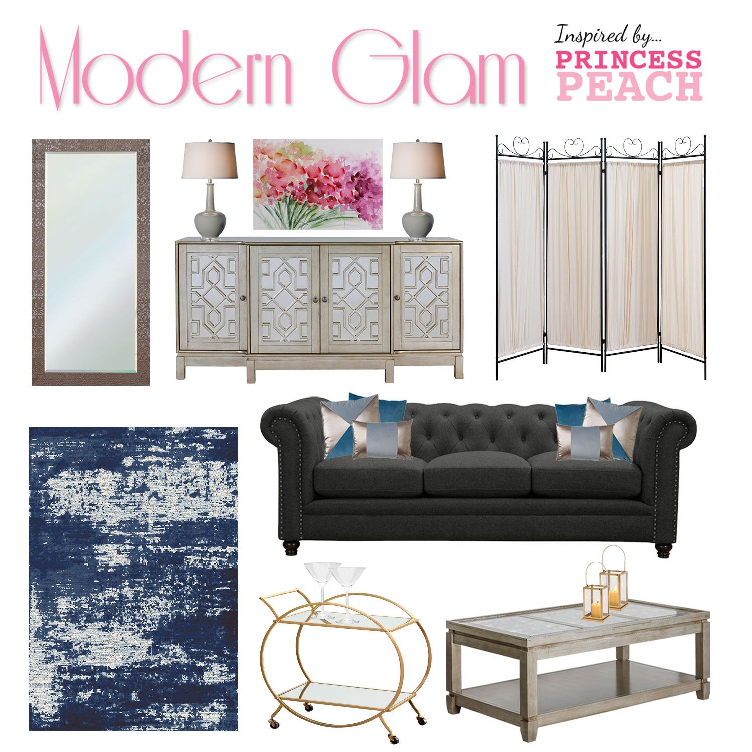 modern glam furniture design inspired by what we think princess