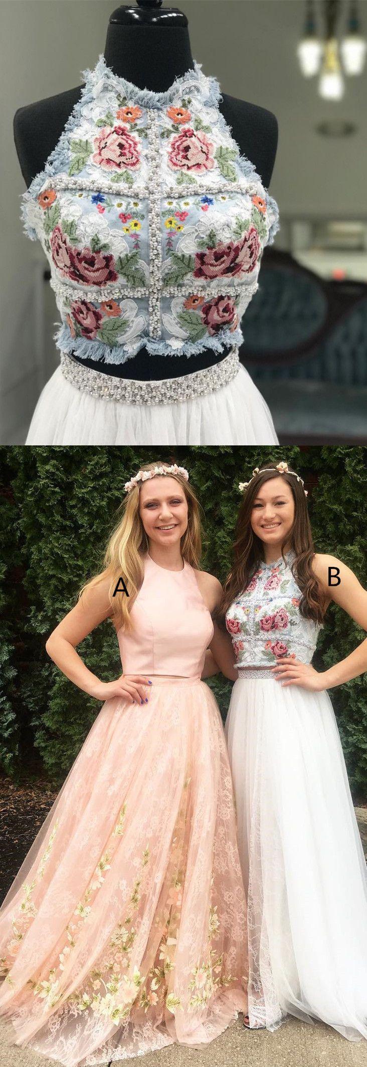 Gorgeous two piece long prom dress prom dress i love pinterest