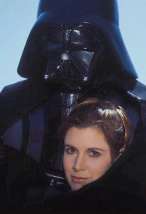Princess Leia With Her Nemesis Father Darth Vader Carrie Fisher During The Rolling Stone Magazine Photo S Leia Star Wars Star Wars Movie Star Wars Trilogy