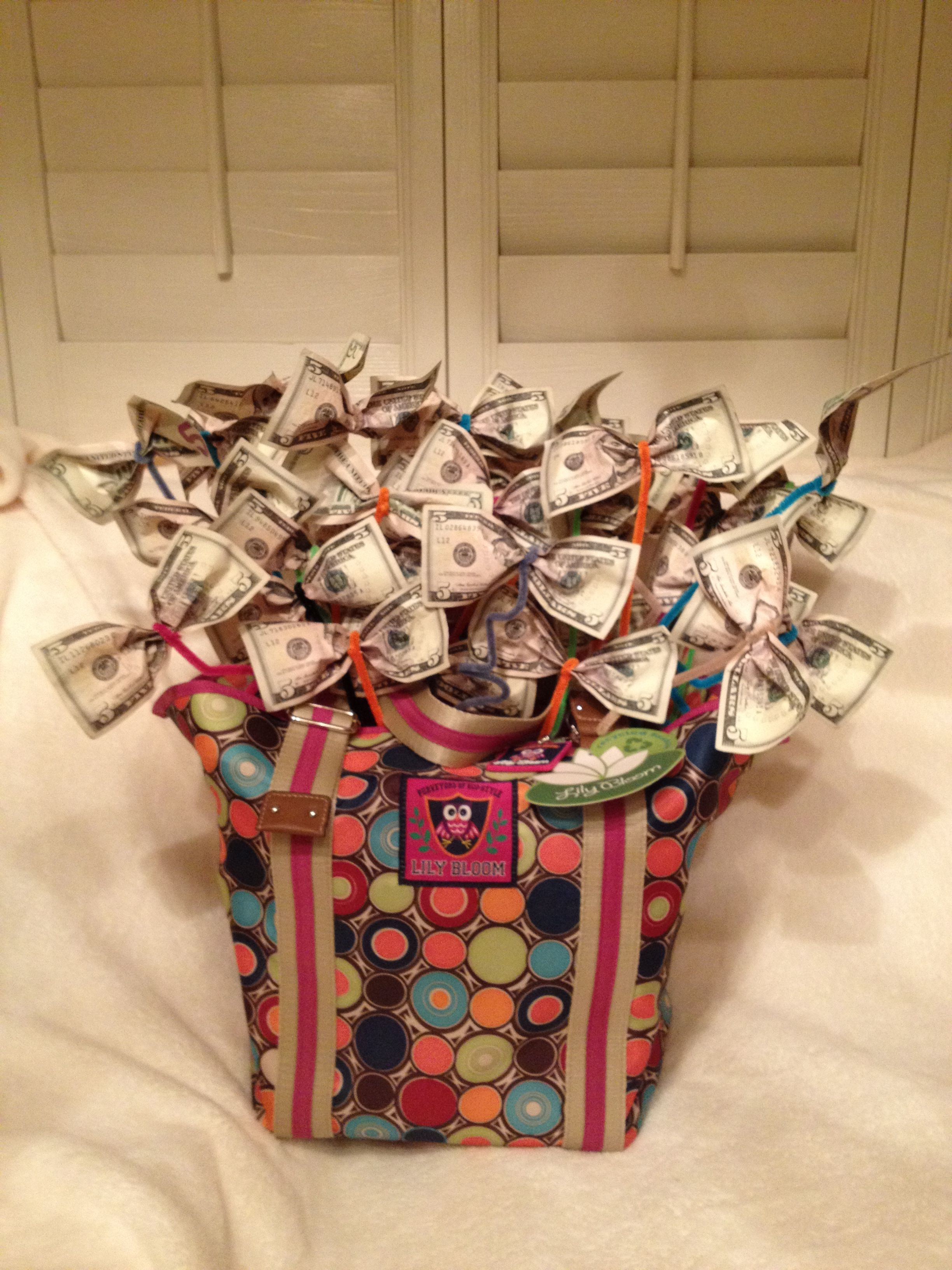 u0026quot money bag u0026quot   raffle basket i made for chorus fund raiser