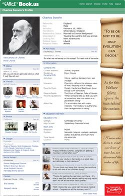 Farsebook of famous scientists- I'd buy these if the shipping wasn't a fortune!