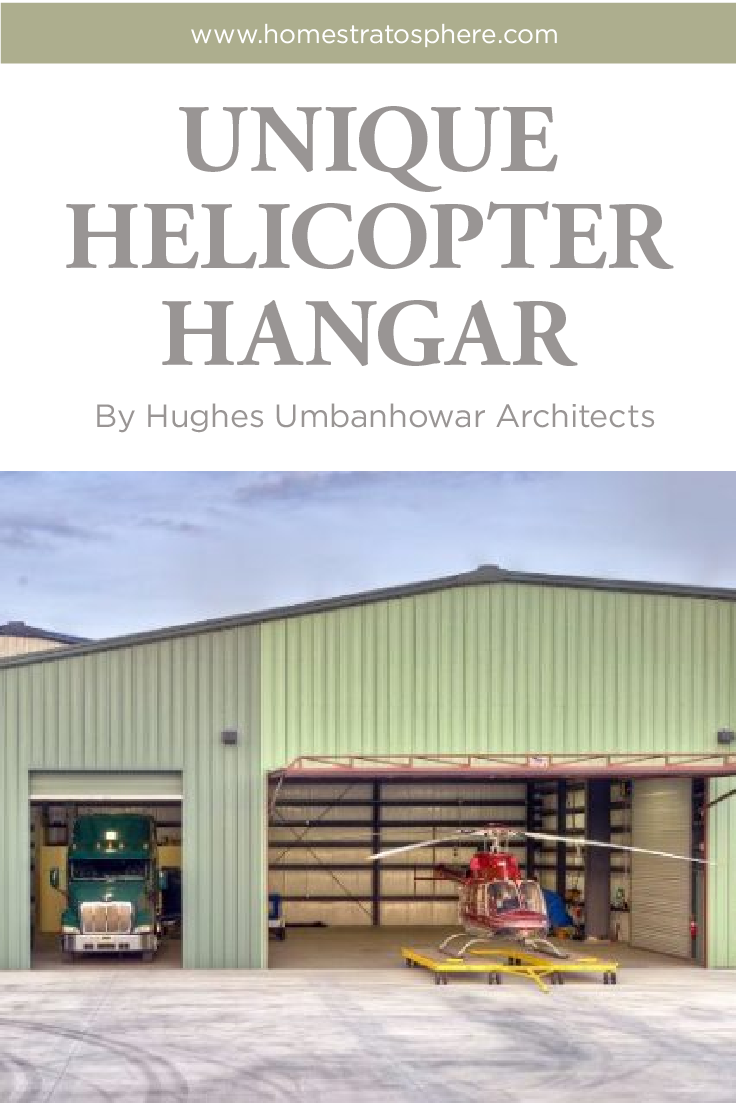Unique Helicopter Hangar by Hughes Umbanhowar Architects | Gardens