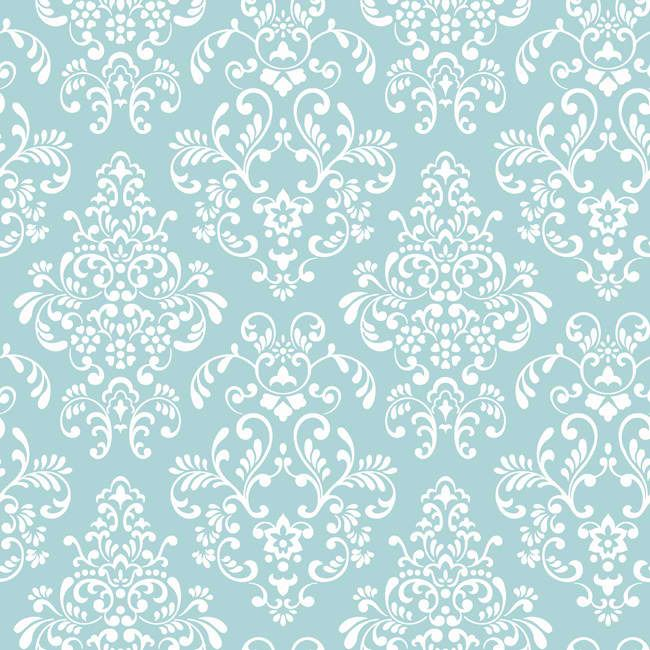 Interior Place Blue White Kd1757 Delicate Doent Damask Wallpaper 26 95 Http