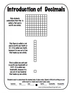 Worksheets Understanding Decimals Worksheets 1000 images about decimals centers on pinterest decimal worksheets and fractions