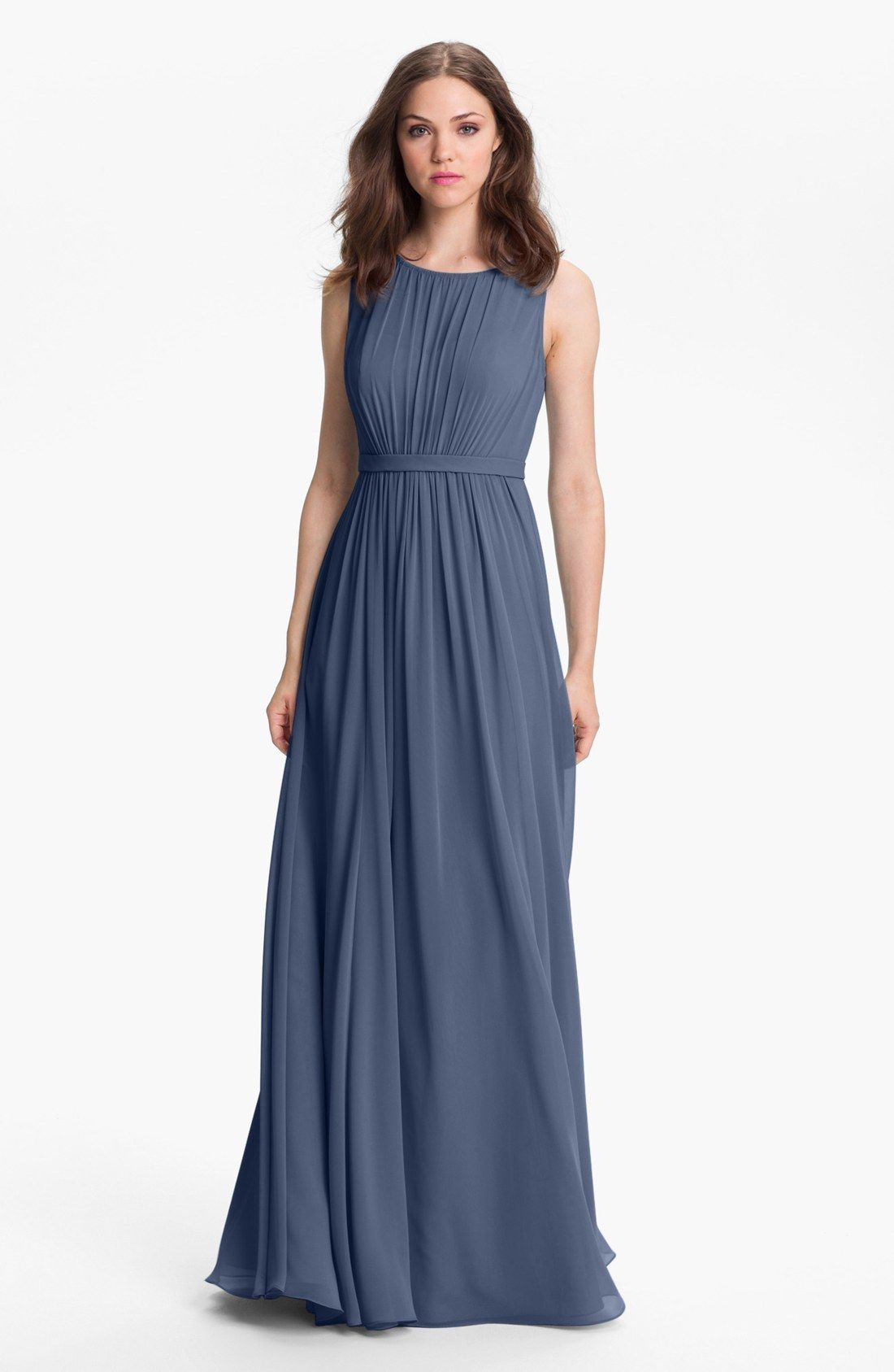 ddd14a84bf Twist knot detail puts a modern spin on this flowy gown