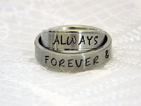 8b043d60ae Matching Couples Rings Name Ring Set of 2 by SnowMountainDesigns ...