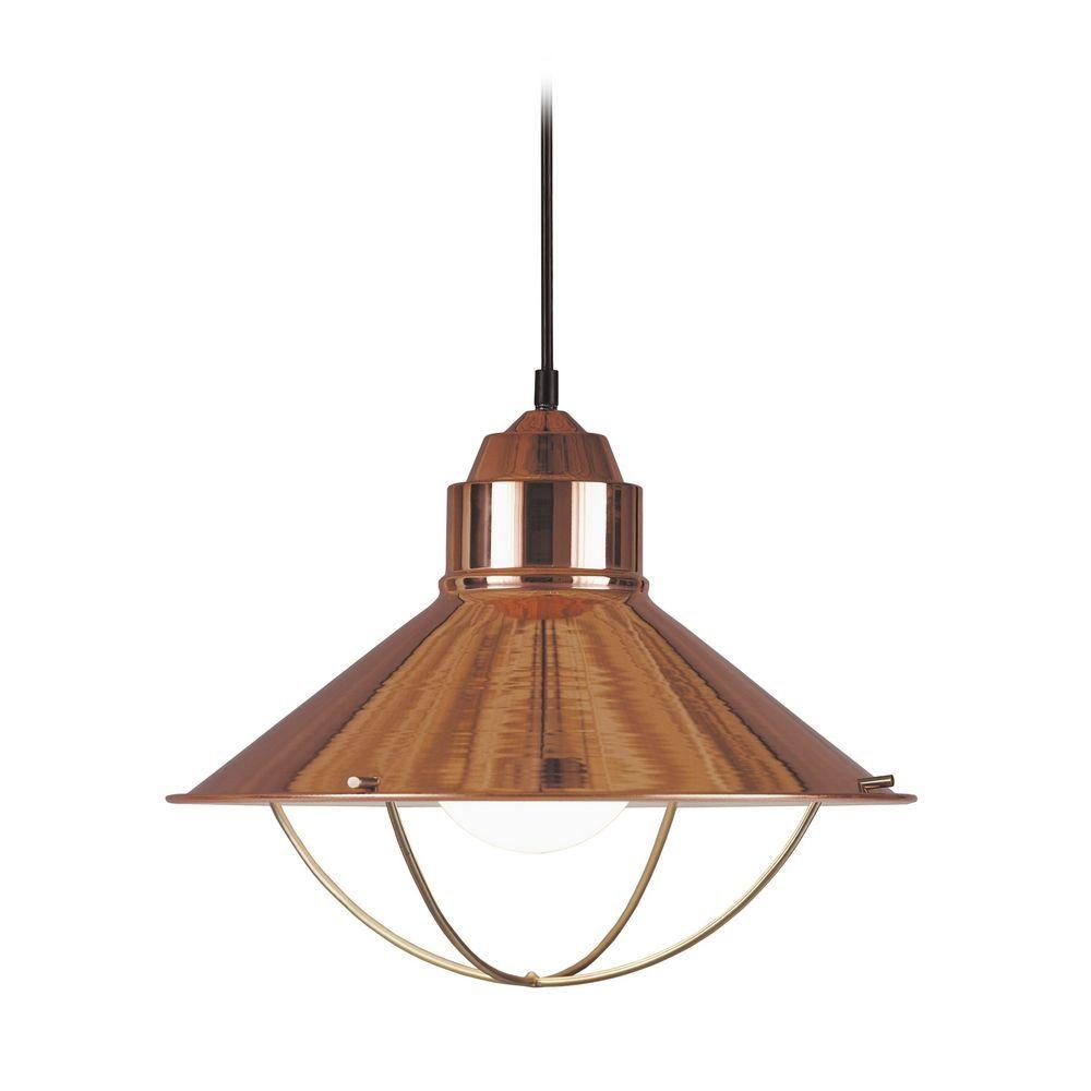 copper lighting pendants. Kenroy Home Lighting Nautical Pendant Light In Copper Finish 66349COP Copper Lighting Pendants N