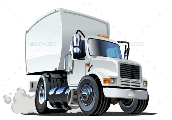 Cartoon Delivery Cargo Truck Con Imagenes Camiones Fun