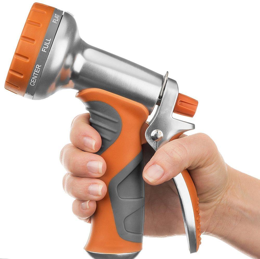 Garden hose nozzle sprayer heavy duty aluminum spray