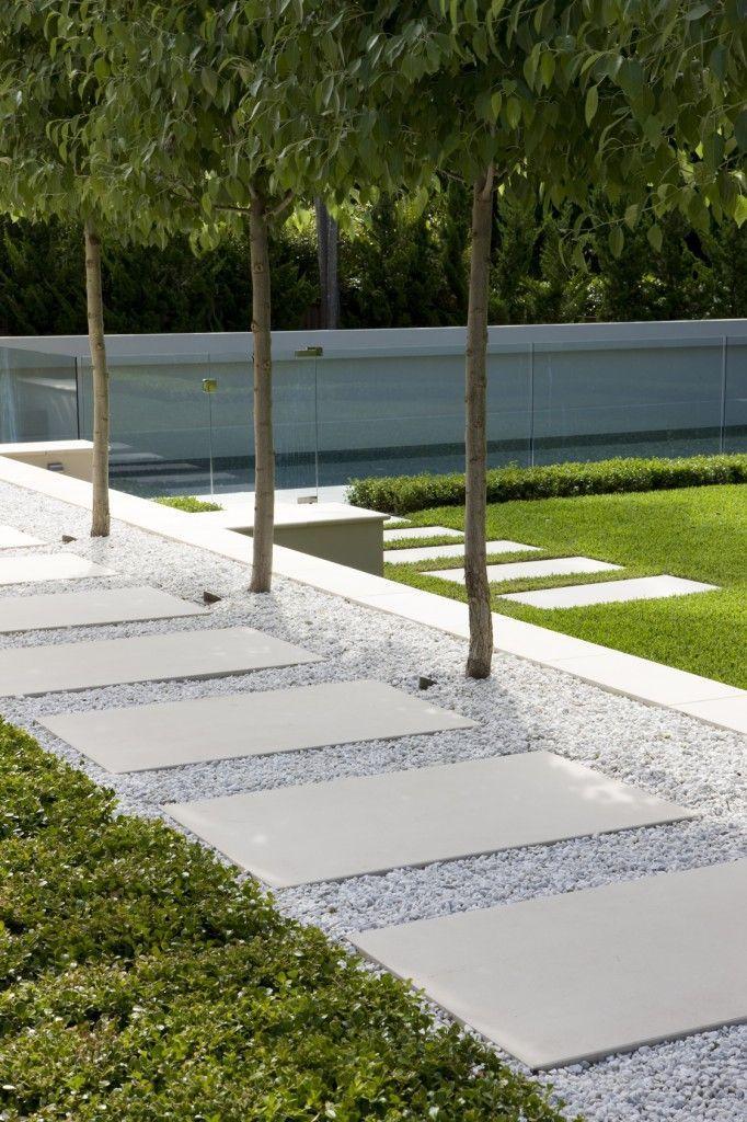 Photo of Elegant modern landscape path