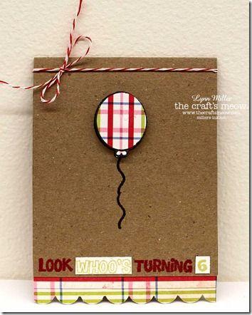 Balloon Birthday Card Idea Cards Crafts Inspiration