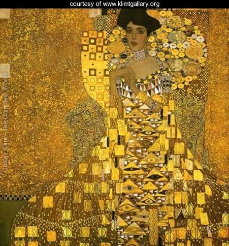 Portrait Of Adele Bloch Bauer I - Gustav Klimt - www.klimtgallery.org