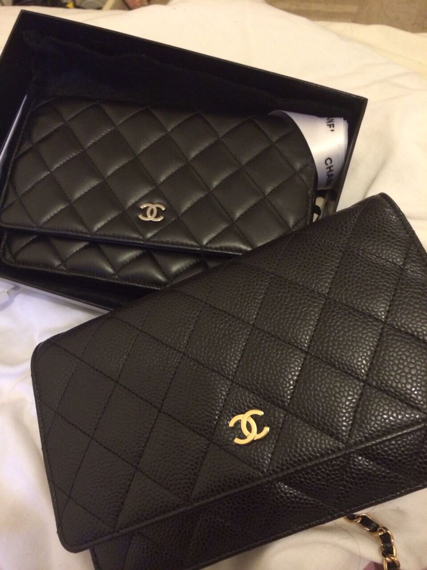 afd45da35a872 My beloved black Chanel wocs lamb skin and caviar leather ...