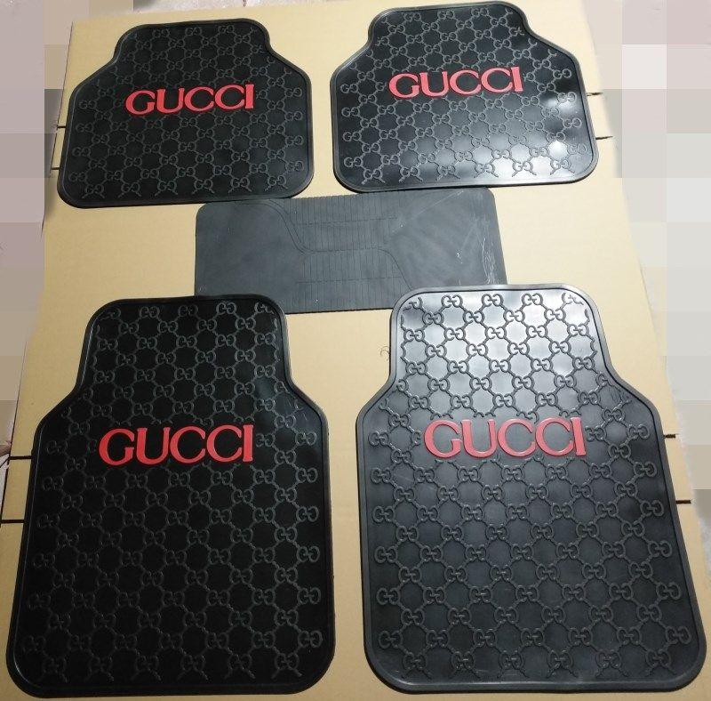 155 32 Classic Gucci Genenal Automotive Carpet Car Floor Mats Rubber 5pcs Sets Black Red Automotive Carpet Cute Car Accessories Girly Car Accessories