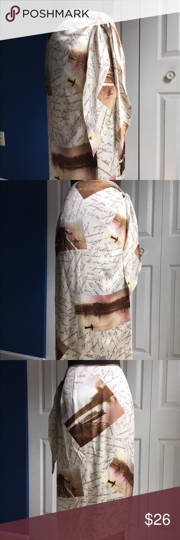 "Mariella Burani silk wrap skirt 100% silk made in Italy, wrap skirt, perfect for hot summer days. 33"" long Mariella Burani Swim Sarongs"