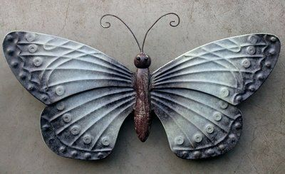 Wanddecoratie Vlinder Metaal Boomblauwtje Decoraties Vlinders Muurdecoratie