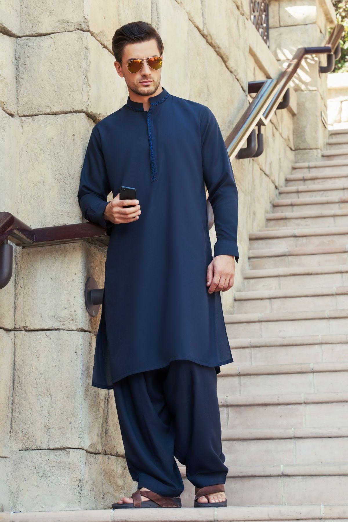 Eid kids kurta shalwar kameez designs 2013 2014 - Bonanza Men Kurta Shalwar Kameez Eid 2016 2017 Collection