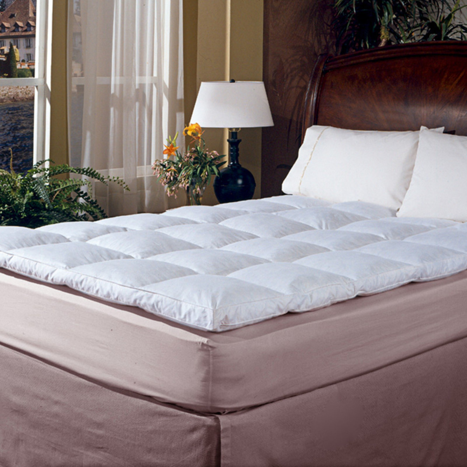 Classic 2 In Featherbed Mattress Bed Sizes Mattress Topper