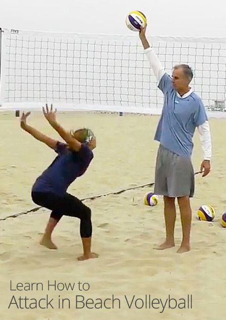 How To Attack In Beach Volleyball Beach Volleyball Volleyball Bodyboarding