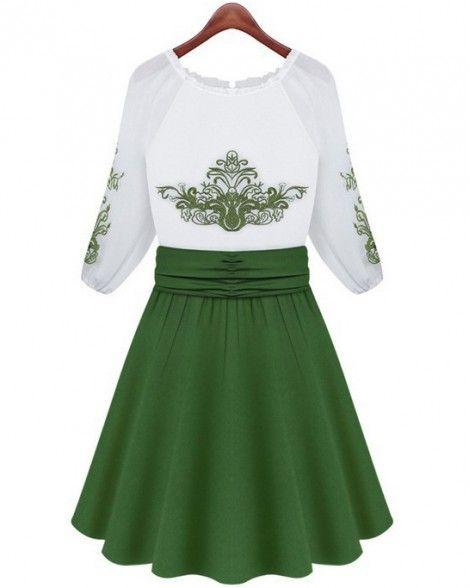 0280d0964c summer fashion womens dresses Slim Half sleeve Chiffon dress ...