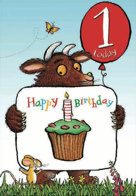 Happy 1st Birthday The Gruffalo Birthday Card From Woodmansterne