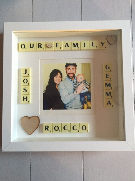 Personalised Scrabble Picture Frame Gift Idea By Scrabbledabble99