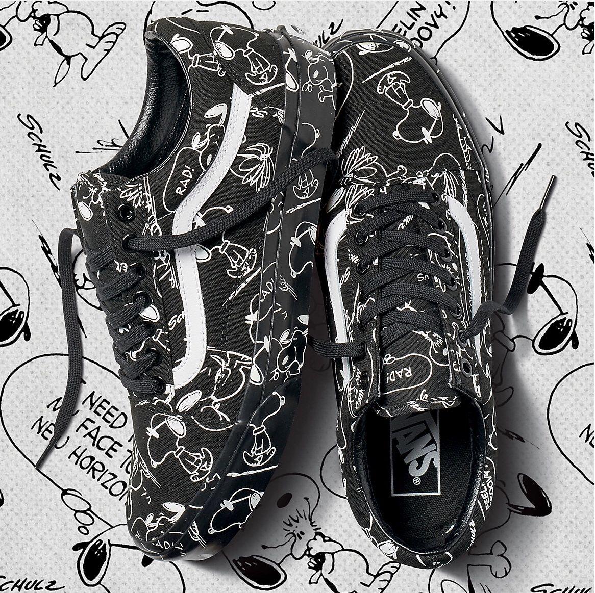 12776b016a533 Vans x Peanuts   Vans -- Stikboard   Vans sneakers, Vans skate shoes ...