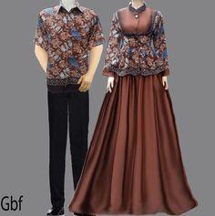 model gamis cantik baju gamis batik sarimbit coklat  batik