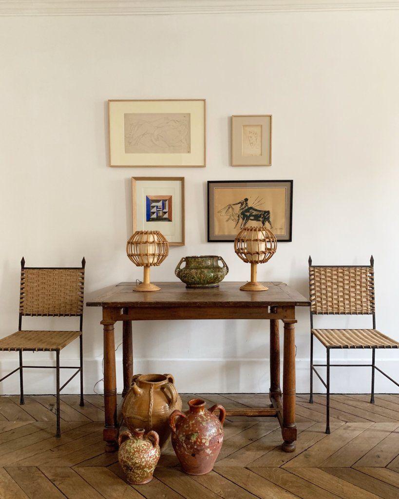 Atelier Vime Pair Of Table Lamps Italy Rattan Floor Lamp Cheap Adirondack Chairs Metal Floor
