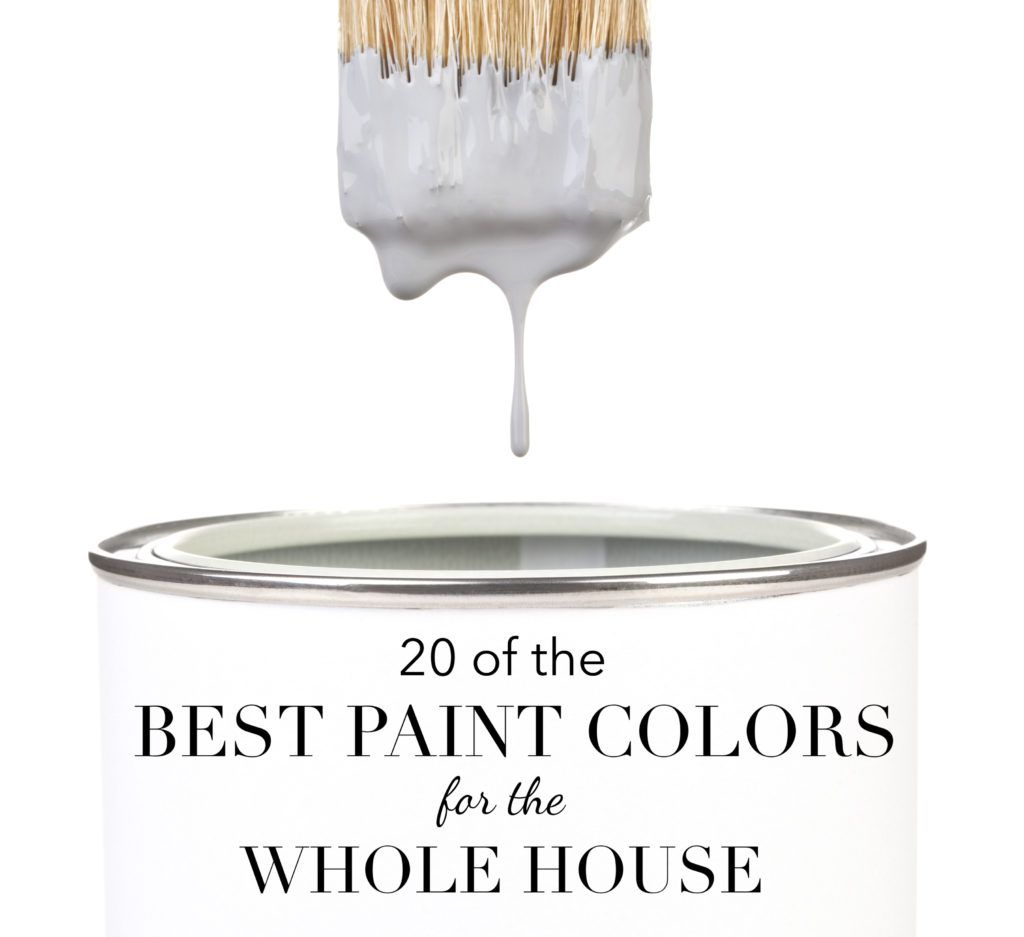 20 of the Best Paint Colors for the Whole House is part of Best paint colors, Family room paint colors, Greige paint colors, House color palettes, Paint colors for home, Paint colors - Twenty of the best paint colors for the whole house that designers swear by, and the ones that should be at the top of your list of neutrals to sample