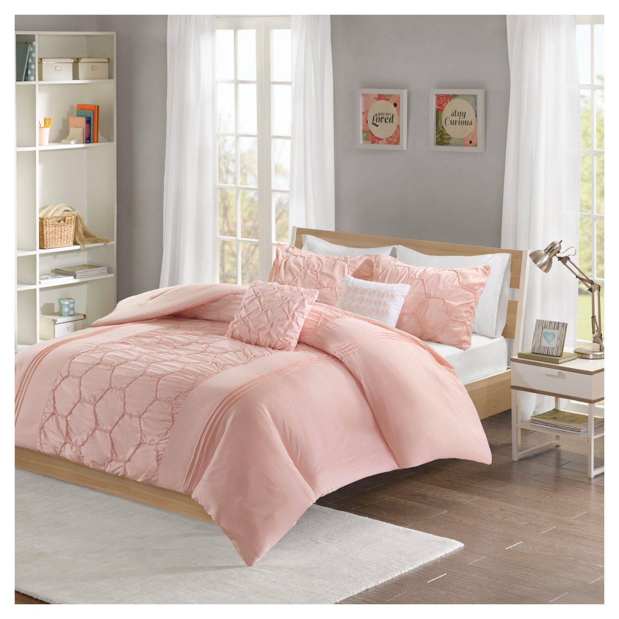 Blush Etta Comforter Set Full Queen Adult Unisex Comforter