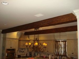Scribing The Beams To Blend With Crown Molding Gave Their Kitchen An Authentic Style And Eal