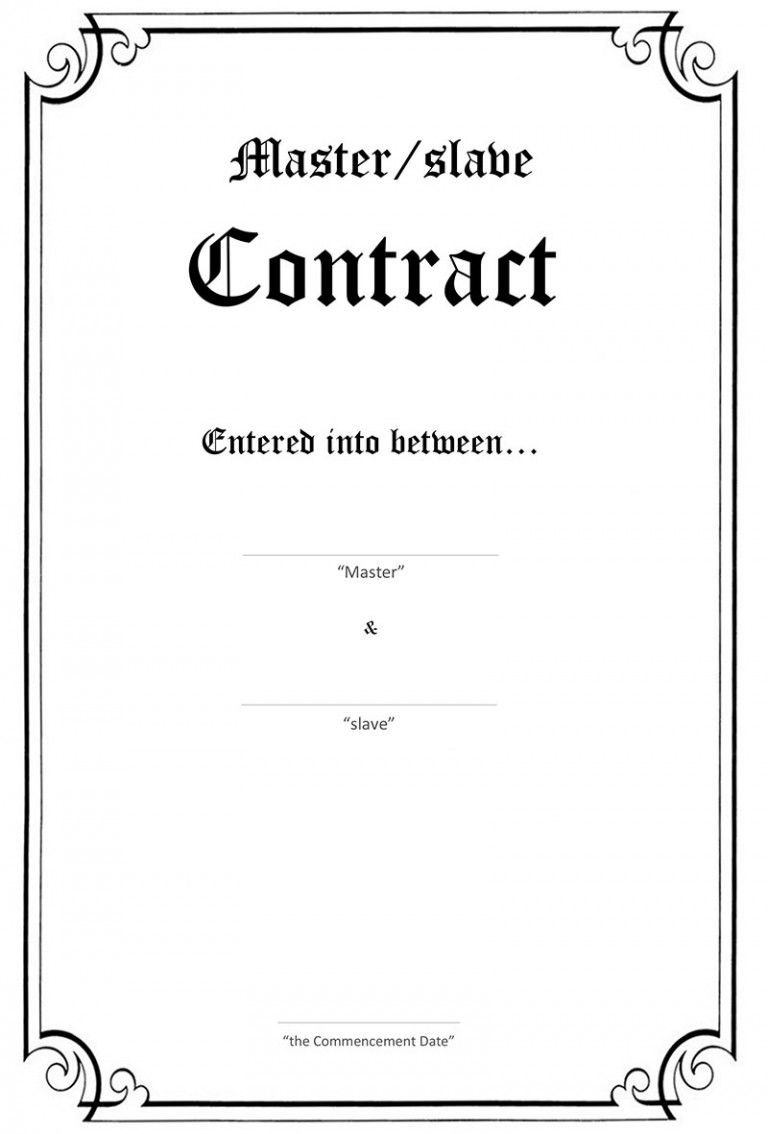 Bdsm Masterslave Contract Collaring Pinterest Define Master