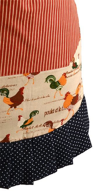 Women's Original Rooster Apron!! Perfect for the fall and winter AND it matches the Sugar N Spice Oven Mitt! #flirtyaprons