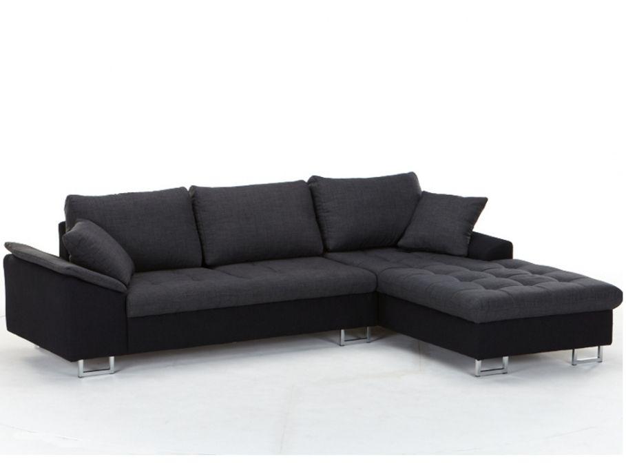 Kauf Unique ecksofa stoff allegrie zweifarbig schwarz günstig kaufen